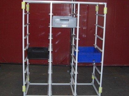 Triple bay euro storage racks
