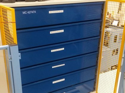 Drawer Unit with 200kg UDL Capacity and 2 Metre Stand